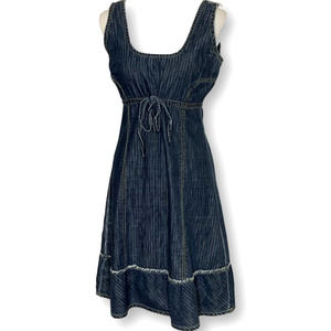 Old Navy Denim Sleeveless  Cinched Dress